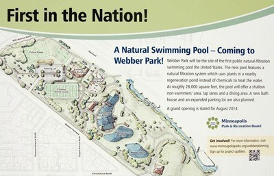 Webber Park Minneapolis Natural Swimming Pool