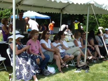 Grass Court Tennis - Fans Watch From the Tent