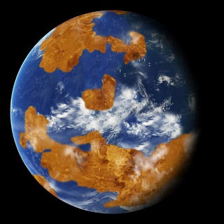 NASA's image of what Venus might have looked like 3 billion years ago (Courtesy NASA)