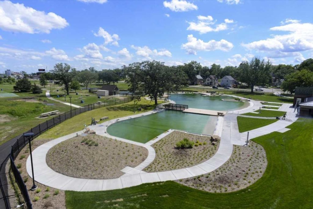 Webber Park public natural swimming pool