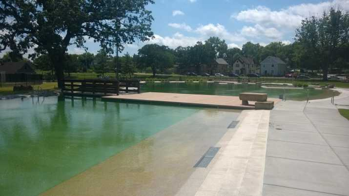 the first public natural swimming pool in North America Designed and constructed utilizing BioNova® equipment in conjunction with Landform Professional Service, LLC landscape architects Brady Halverson and Darren Lazan and Minneapolis Parks and Recreation Board landscape architect Jon Duesman
